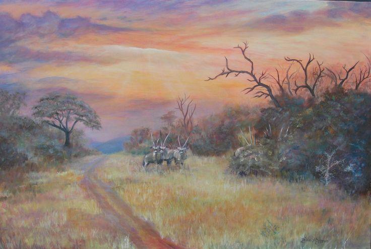 Swart Rivier - Mpumalanga by Zelda Alistoun paintings Oil on canvas 900 x 600mm