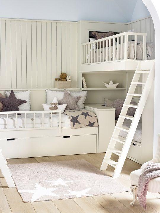 Las 25 mejores ideas sobre literas para ni as en pinterest - Habitaciones infantiles disney ...