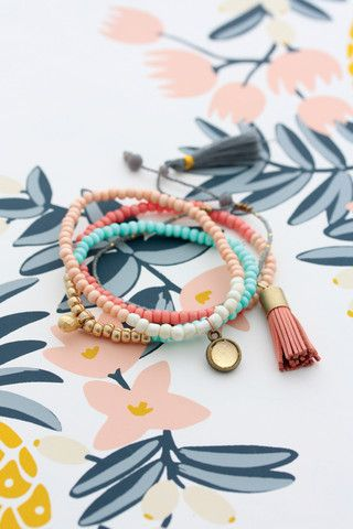 Cloud Nine Creative - Tassel Bracelet Set - Pink