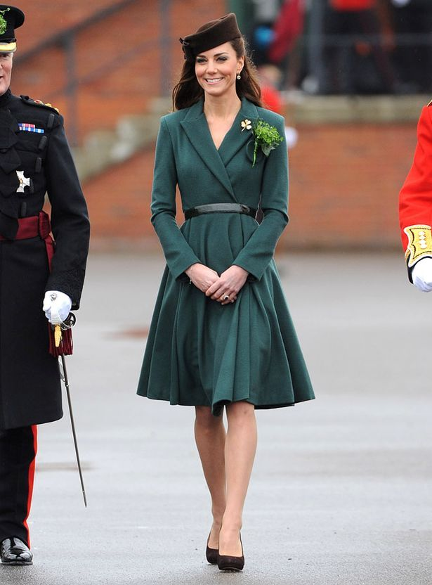 Kate Middleton in an Emilia Wickstead dress coat at the Regiments' St. Patrick's Day Parade