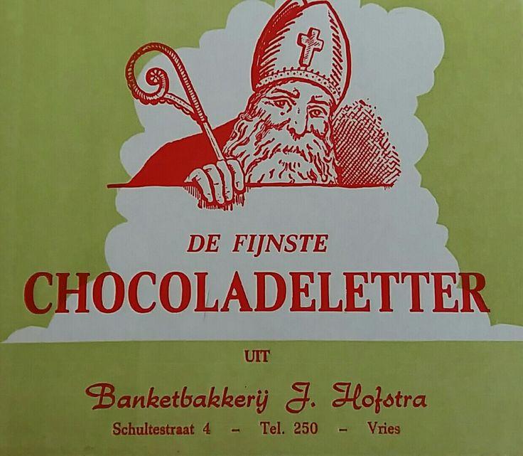 Chocoladeletter doosje (oud)