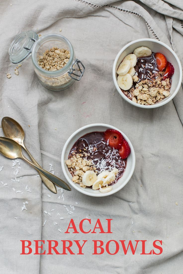 Healthy food that makes you feel like you're eating ice cream? Sign us up! These Acai Berry Bowls take just moments to whip up and will have the little ones in your life insist that they are eating ice cream sundaes. Try the simple acai bowl recipe and let us know what you think.