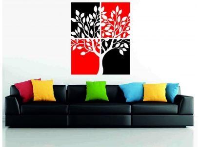 Kétszínű fa falmatrica