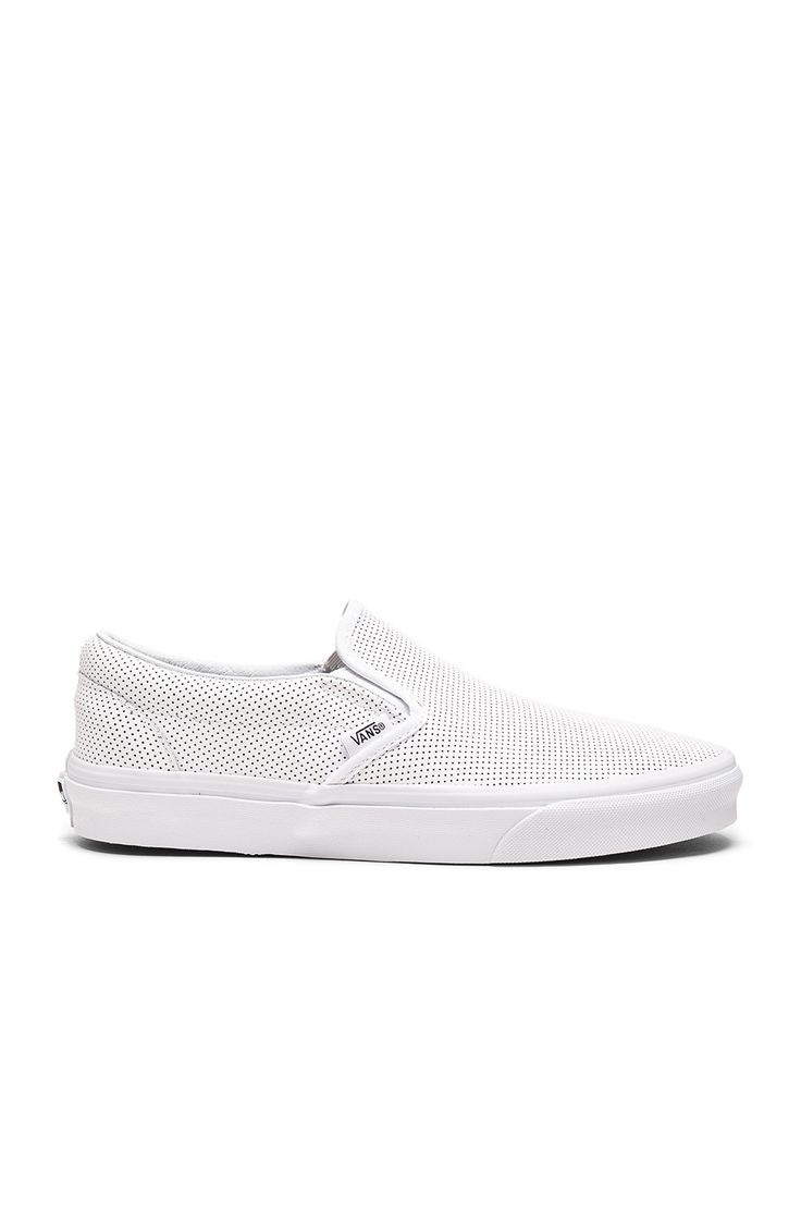 Vans Classic Slip-On Perf Leather in White
