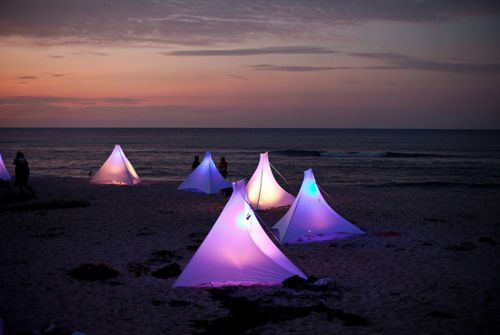 camping on the beachLights, Neon Parties, Beach Tents, Glow Tents, Beach Camps, Colors Photography, Beach Camping, Beach Discos, Colors Tents