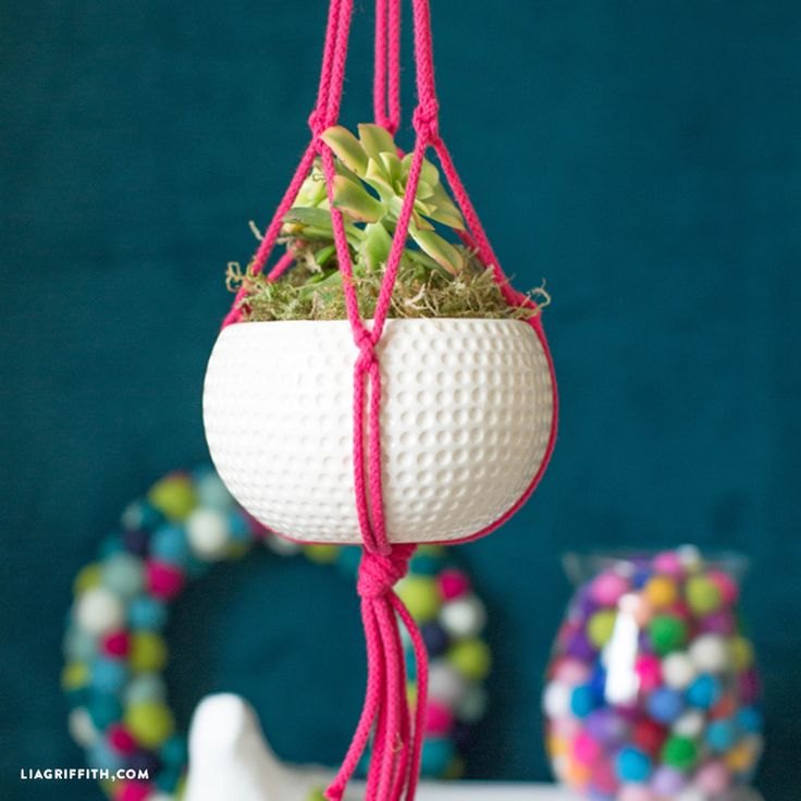 how to make a macrame plant hanger easy