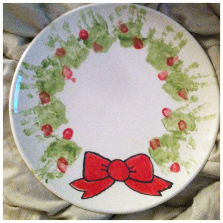 14 best color me happy images on pinterest ceramic for Handprint ceramic plate ideas