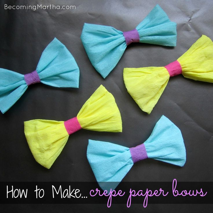How To Make Things Out Of Paper Part - 43: Becoming Martha: Crepe Paper Bows Tutorial
