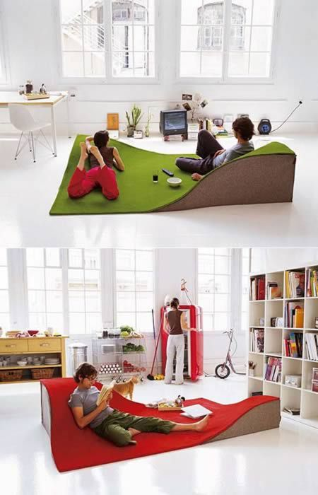 #nature Flying Carpet pillow / rug is made of 100% wool with wedges made of 100% wool felt with a foam interior