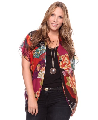 $19.80 plus size sheer cardigan