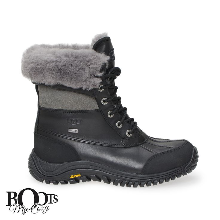 """FEATURES - Genuine shearling or UGGpure™ lining spills from the top of a rugged, outdoor-ready boot crafted from waterproof leather and grounded by a ribbed Vibram® sole for durable traction. - 7"""" boo"""