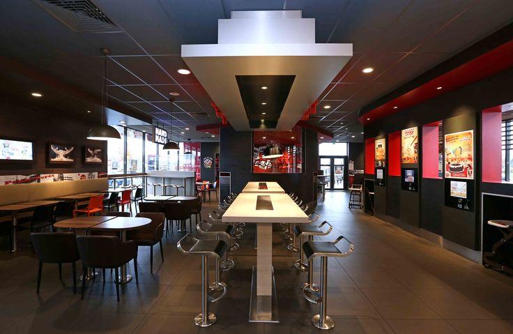 KFC | agencement restaurant, mobilier restauration rapide | Groupe Lindera