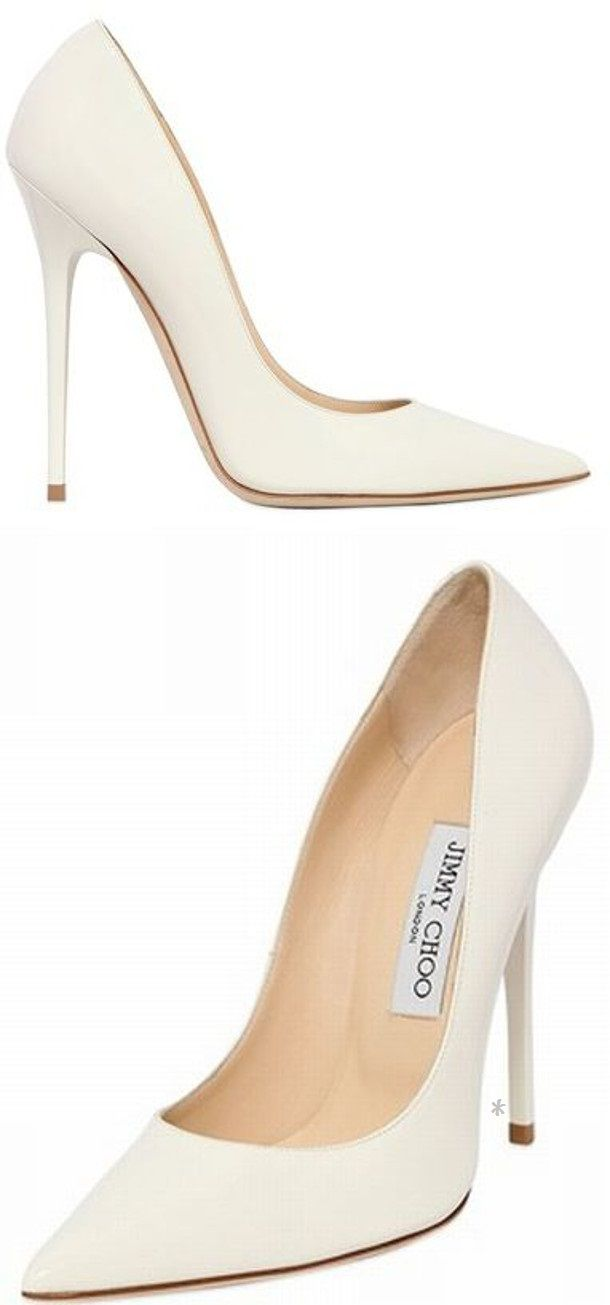 I love white heels.goes so well with nylons xx white. Find this Pin and  more on Jimmy Choo ...