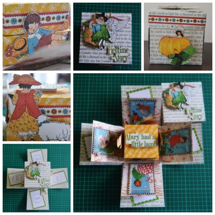 "10x10x10cm explode box using G45 ""Mother Goose"""
