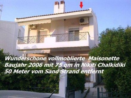 Wunderschöne vollmöblierte Maisonette Baujahr 2006 mit 75 qm in Nikiti Chalkidiki 50 Meter vom Sand Strand entfernt  Details zum #Immobilienangebot unter https://www.immobilienanzeigen24.com/griechenland/63077-nikiti-chalkidiki/Maisonette-kaufen/20319:1224908996:0:mr2.html  #Immobilien #Immobilienportal #NikitiChalkidiki #Wohnung #Maisonette #Griechenland