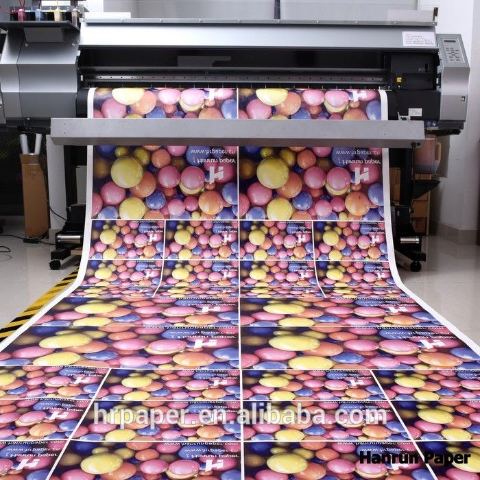 Competitive high transfer dry sublimation paper roll size for digital printing