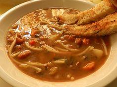 zuppa di fagioli e patate #ricettedisardegna #recipe #sardinia