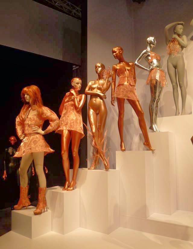 Genesis D Exhibition Design : Best images about gold mannequins on pinterest chrome
