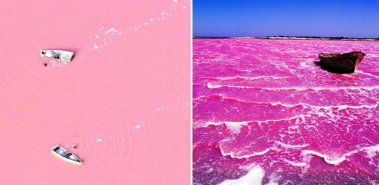 Lago Retba – Senegal  Los 10 lugares más coloridos del planeta