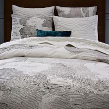 Organic Watercolor Rectangle Duvet Cover + Shams