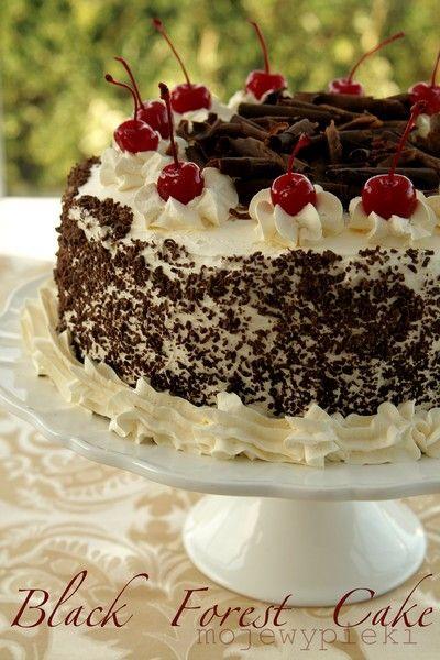 Moje Wypieki | Tort Szwarcwaldzki (Black Forest Cake)