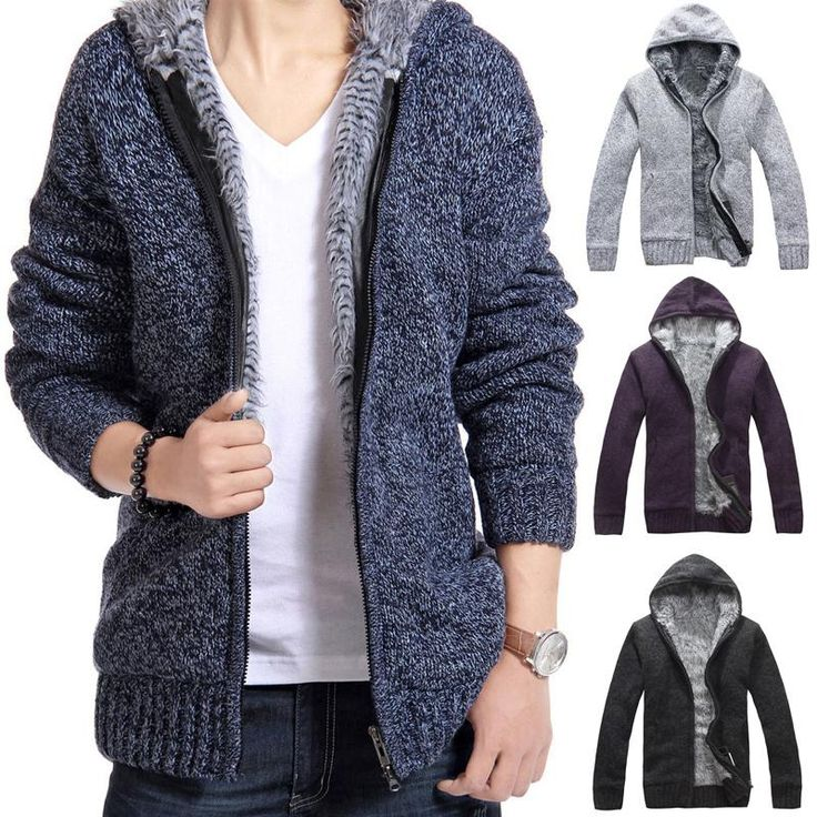 New winter men's hooded cardigan sweater plus thick villi coat jacket men men's fashion Slim lager size Sweater coat men A751