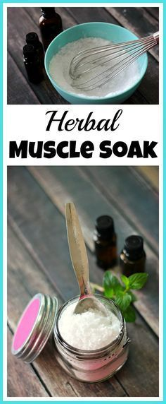 While aches and pains are a natural part of life, they can be annoying. Soothe your sore muscles in a relaxing bath with this DIY herbal muscle soak!