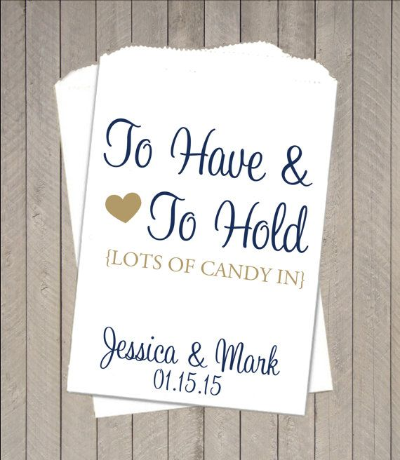 Wedding Candy Buffet Brown Kraft Favor Bags With Calligraphy Script Font And Pink Heart Pinteres