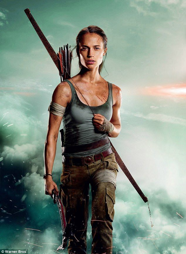 Alicia Vikander is ripped and buffed in Tomb Raider photos | Daily Mail Online