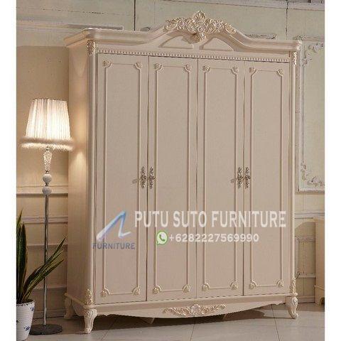 Lemari Pakaian 4 Pintu Mewah Jakarta Putu Suto Furniture