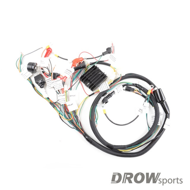 parts shop max gy6 swap harness for honda ruckus gy6. Black Bedroom Furniture Sets. Home Design Ideas