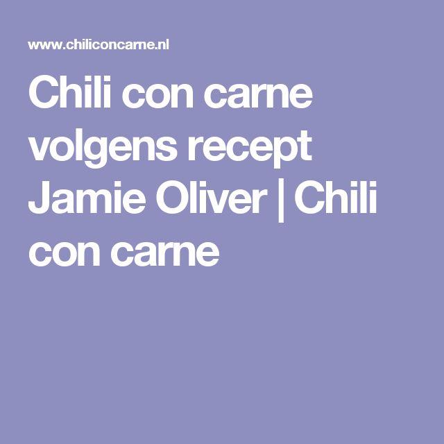Chili con carne volgens recept Jamie Oliver | Chili con carne