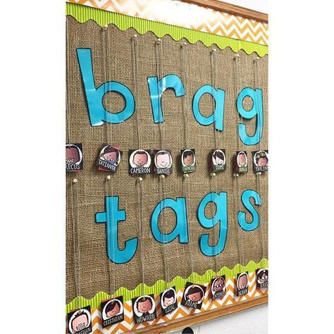 Kind of obsessed with how this all turned out!!! FINALLY got the brag tag system up and running. The kids are loving it, especially their little personalized name tags #teachersfollowteachers #iteachsecond #bragtagsareawesome