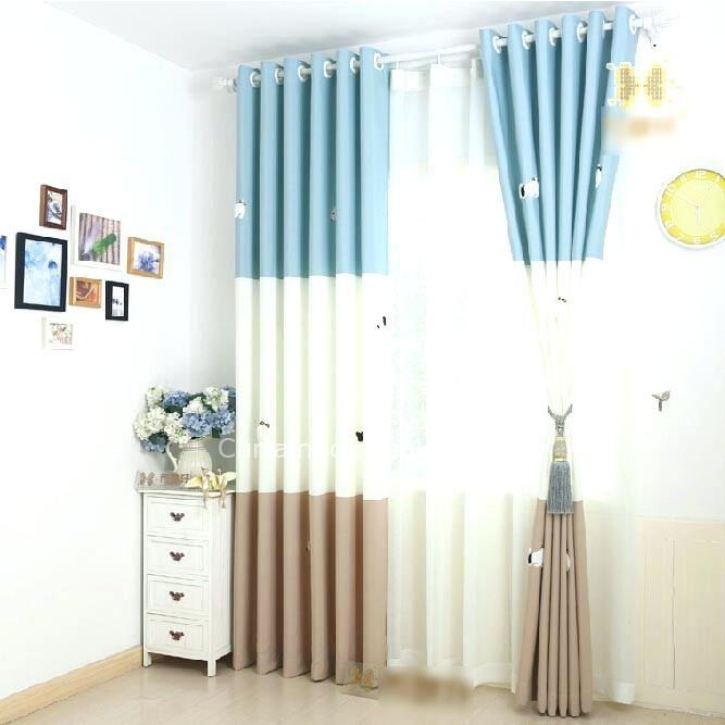 Baby Room Curtains Ideas Nursery Decor Blue Dog For Pattern