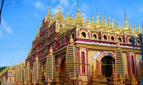 Pagoda Thanboddhay, Monywa, Sagaing, Myanmar (Birmania)