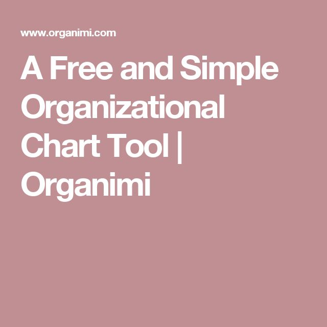 The  Best Organizational Chart Ideas On