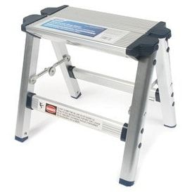 Camco 43672 Folding Metal Step Stool - Silver