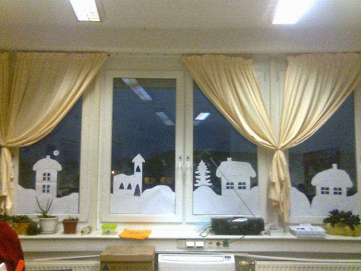 téli dekoráció ablakra - Google keresés