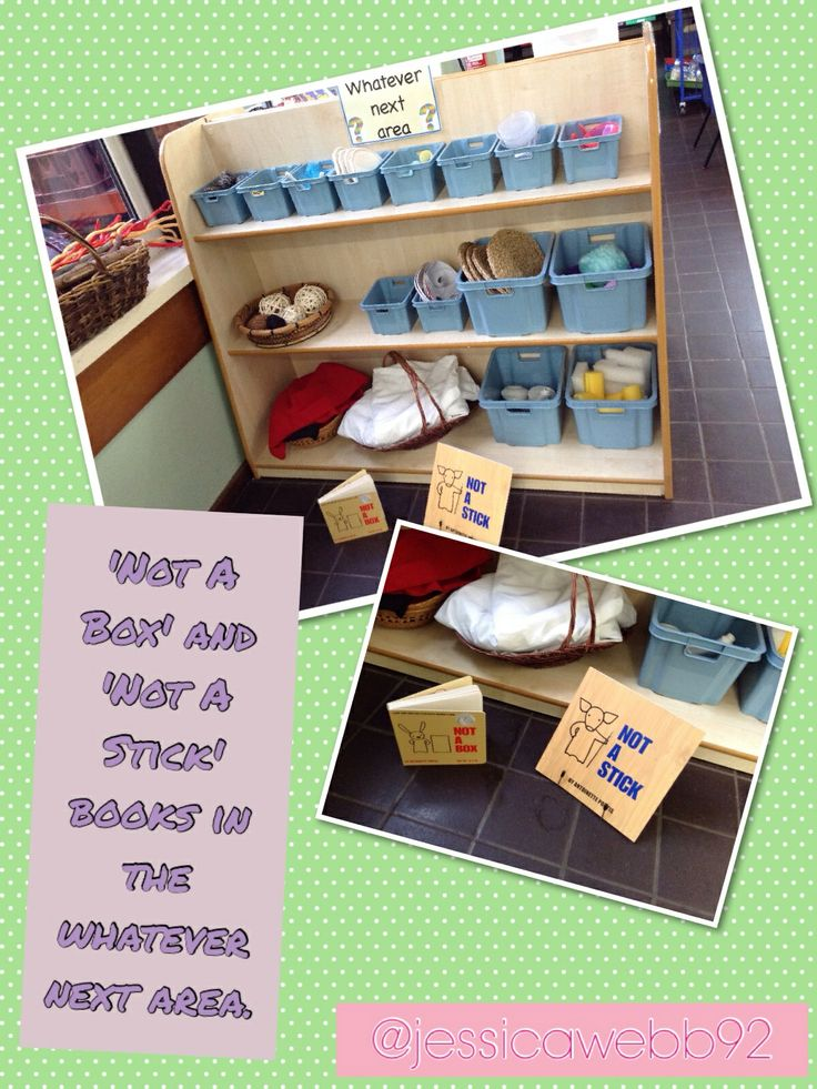'Not a stick' and 'Not a box' book in the whatever next area to encourage imagination. EYFS