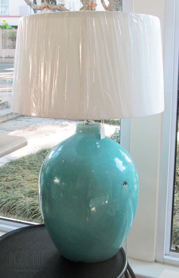 Turquoise Ceramic Lamp Base - Inside Out Home Boutique - Please check stock availability