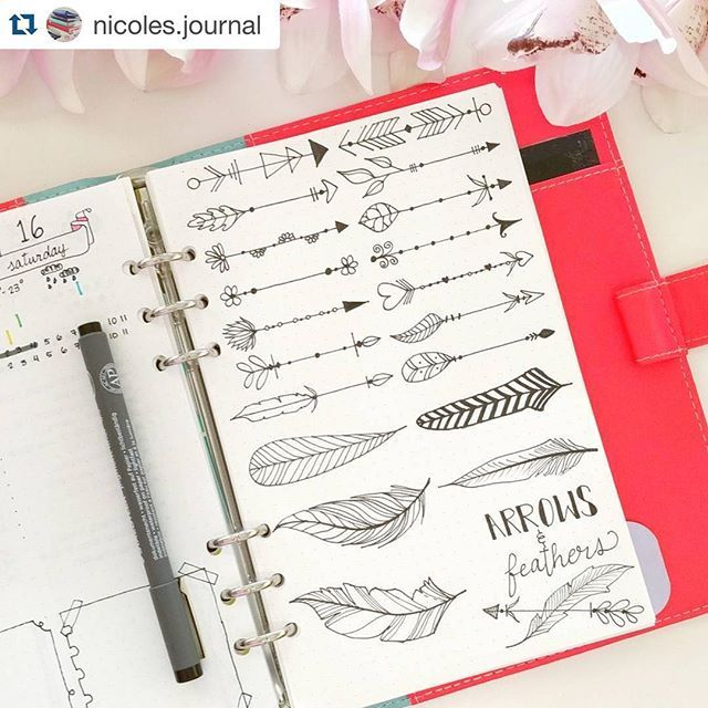 Who knew that #feathers and #arrows could be this amazing? @nicoles.journal did! . ・・・
