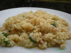 Ricetta risotto con speck, spinaci e fonduta
