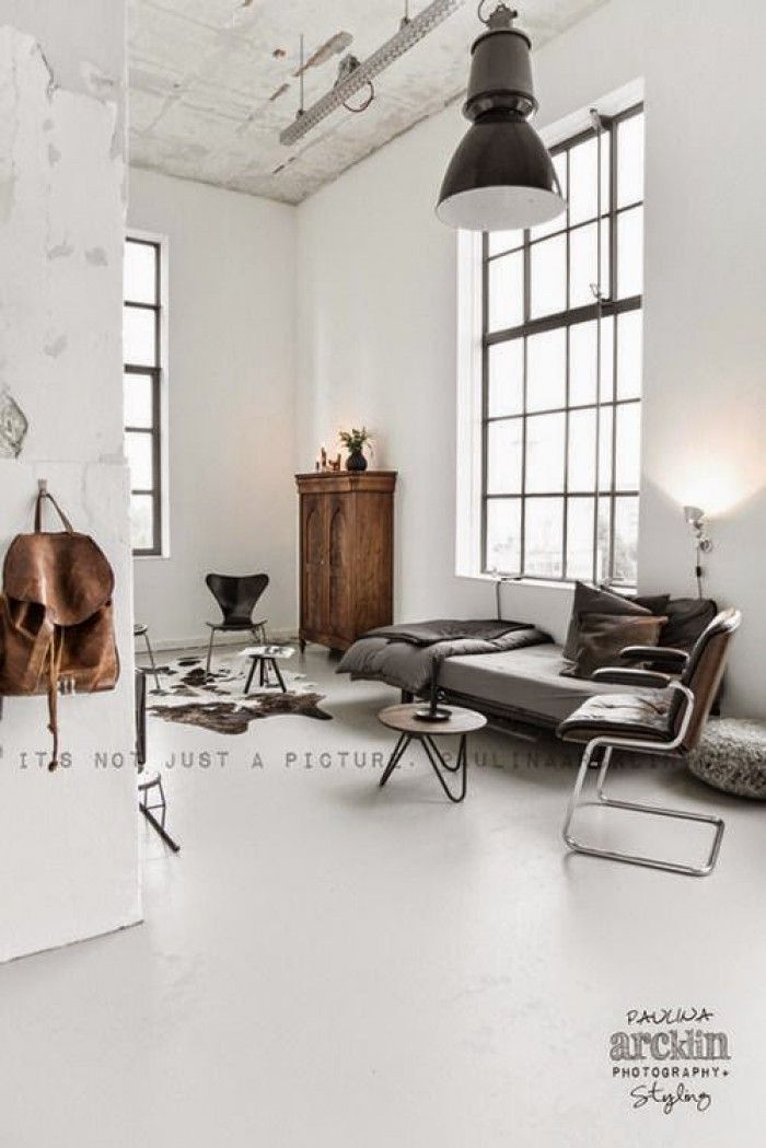 Scandinavisch interieur - industrieel interieur - naturel