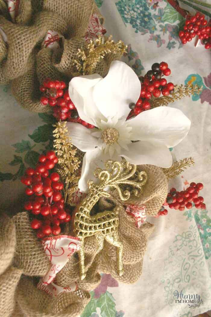DIY Dollar Store Christmas Wreath Farmhouse Wreaths and