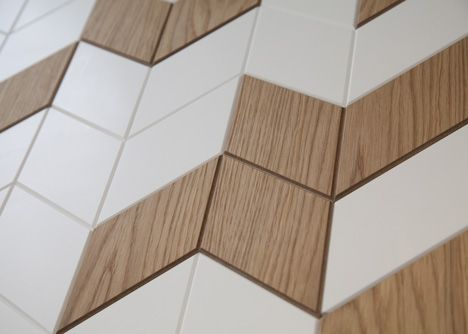 Chevron wood pattern
