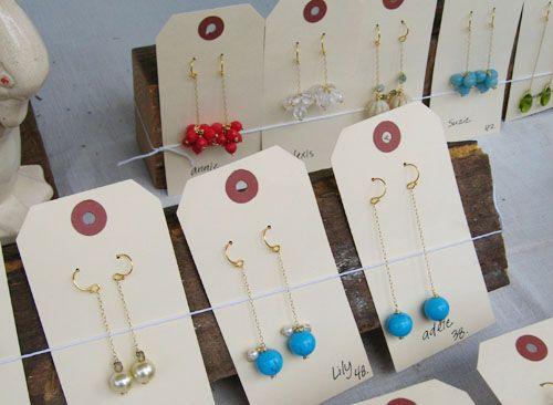 earring card idea: Jewelry Display, 14 Craft, Diy Craft, Display Ideas, Earring Display, Craft Show Displays, Craft Display, Crafts