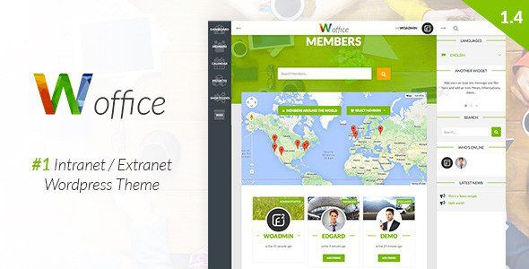 Woffice v1.8.5 – Intranet Extranet WordPress Theme