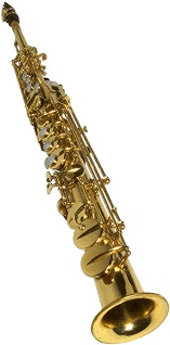 Soprano saxophone. These are mostly used in New Orleans type of jazz.