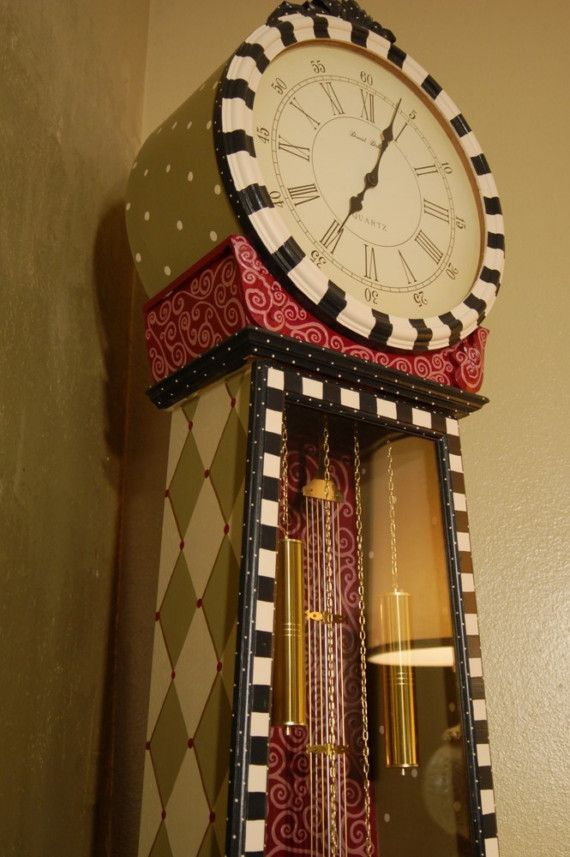 Best of Times Hand Painted Floor Clock by madteapartyfurniture