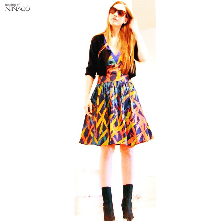Ninaco loves recycling. This dress was made of vintage Marimekko curtains. www.ninaco.co